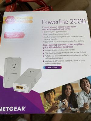 Netgear 2000 power line Ethernet adaptor for Sale in Bend, OR