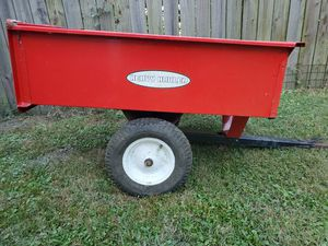 Tow behind lawn tractor utility trailer that dumps!!! for Sale in Norfolk, VA