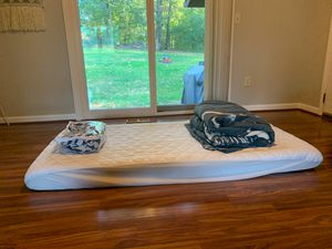 Twin mattress, shark sheet set, twin comforter, mattress pad for Sale in Chattanooga, TN