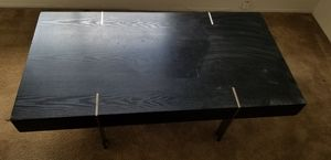 Black Modern coffee table with side drawer for Sale in San Diego, CA