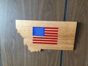 Inlaid US flag in the state of Montana for Sale in Butte, MT