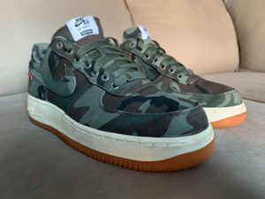 Nike Air Force 1 Low Premium 08 NRG Supreme Camo size 9 Camouflage AF1 One Gum Olive Box Logo for Sale in Philadelphia, PA