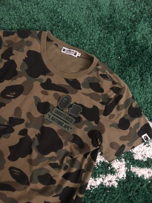 Bape X Undefeated camo velcro T-shirt size medium for Sale in Old Bridge Township, NJ