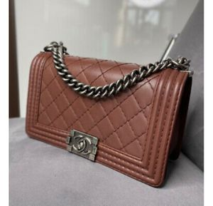 CHANEL Quilted RARE Color Brown Leather Medium Boy Flap Bag for Sale in Houston, TX