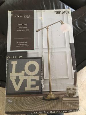 Allen Roth Floor Lamp Antique Brass for Sale in FL, US