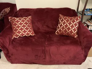 Red and beige couch set for Sale in Sterling, VA