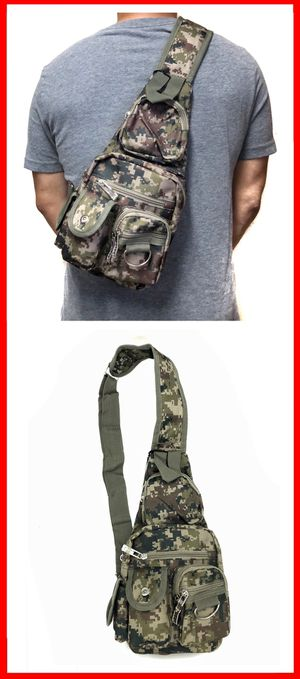NEW! Camouflage crossbody sling side chest bag travel biking hiking work gym bag for Sale in Carson, CA