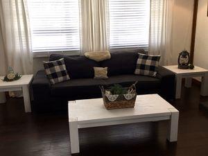 Custom Built Coffee Table & 2 Side Tables Set Rustic Beachy Farmhouse for Sale in West Palm Beach, FL