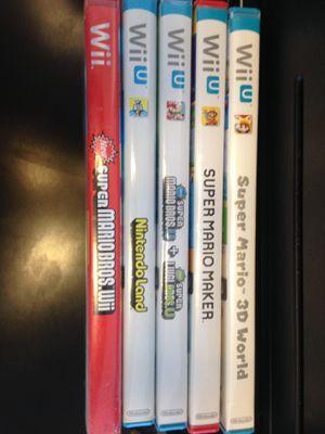 Wii & Wii U games. $80 for Sale in Cincinnati, OH