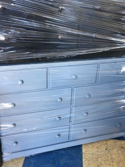 9 Drawers Chest Dresser Any Colors New Solid Wood Gray for Sale in Long Beach,  CA