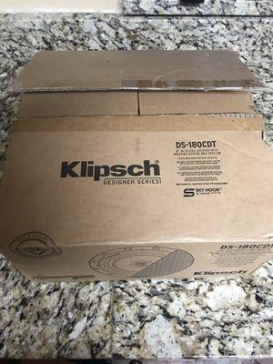 "Brand new Klipsch Designer series DS-180CDT 8"" in ceiling speaker with pivoting woofer and tweeter for Sale in Decatur, GA"
