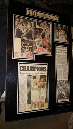 NCAA CHAMPIONSHIP MD TERPS HARDWOOD COLLAGE for Sale in Baltimore, MD