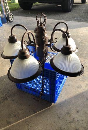Chandelier. Dark bronze finish for Sale in Puyallup, WA