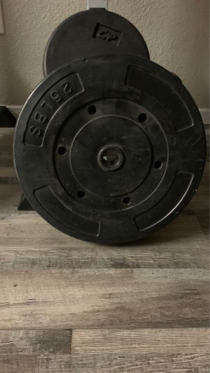 """2-25 lb weights ... 1"""" hole for Sale in Arlington, TX"""