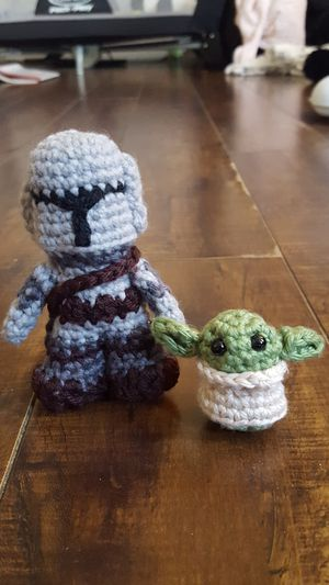 Star Wars Mandalorian and baby Yoda crochet dolls for Sale in Cypress, CA
