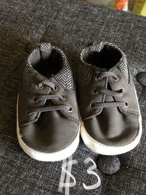 Baby toddler shoes size 4. 12 to 18 months crib shoes for Sale in San Dimas, CA