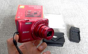 Nikon Coolpix Digital Camera.Red. 16 mpx.WiFi connectivity Full HD video (1920x1080),NEW Battery, Charger included. for Sale in Saint Paul, MN