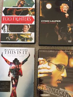 Michael Jackson, Cyndi Lauper, Cyril Magic Etc DVDs for Sale in Issaquah,  WA