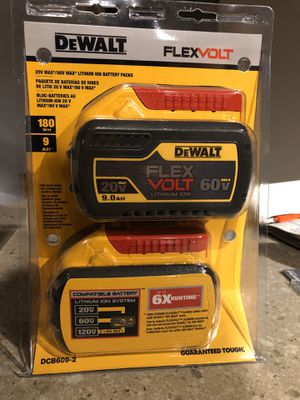 Dewalt 9 AH FlexVolt Batteries for Sale in Seattle, WA