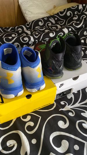 Steph curry under armour shoes size 10.5 & Nike Air Jordan SuperFly 4 Marvin The Martian Blake Griffin Size 10 for Sale in Nashville, TN