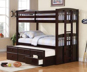 Bunk bed twin/twin with drawers for Sale in Hialeah, FL