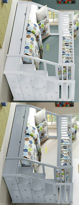 Bunk Bed Twin Over Full Staircase with Trundle for Sale in Houston, TX