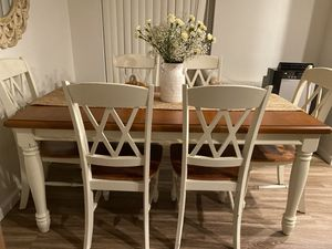 Beautiful wood table with 6 chairs for Sale in San Diego, CA