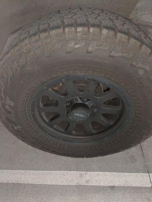 Falken Wildpeak A/T Tire Set with MB Wheels LT275/70R/18 for Sale in Los Angeles, CA