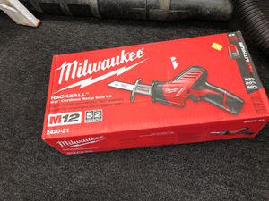 Milwaukee M12 HACKZALL Cordless Recip Saw Kit for Sale in Seymour, CT