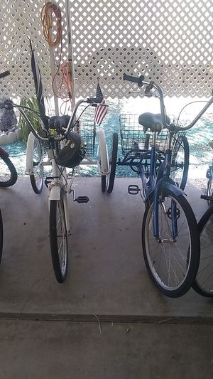 Bicycles ,Tricycles for sale new used pedal or electric power for Sale in Menifee, CA