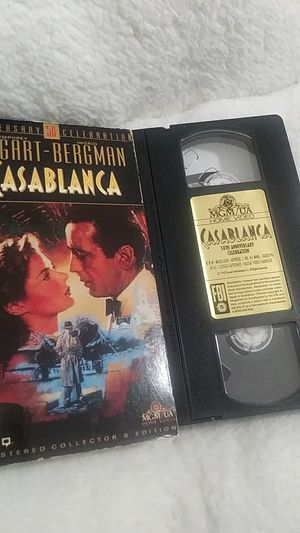 Casablanca (VHS, 1992) for Sale in Homestead, FL