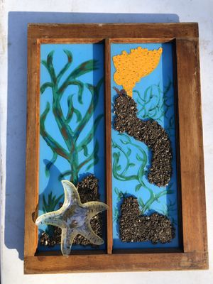"""Hand Painted Vintage Window. """"Starfish"""". Ocean Theme for Sale in Cynthiana, KY"""
