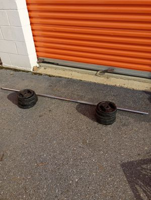 Mercy grip cast iron weights and bar for Sale in Hyattsville, MD