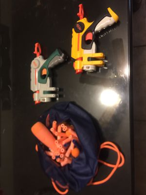 Nerf gun toys with extra bullets for Sale in Westminster, CA