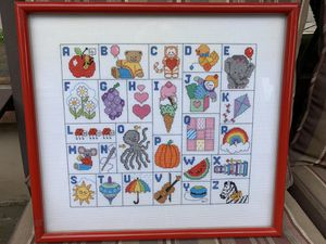 Alphabet Crosstitch artwork for Sale in San Luis Obispo, CA