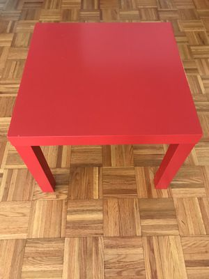 Red side table - used for Sale in Chesterbrook, PA