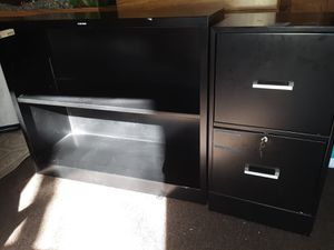 Black File Cabinet and Shelf for Sale in Ferguson, MO
