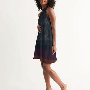 DeMarcus Alexan Stripe Blocks Halter Dress for Sale in Alexandria, VA