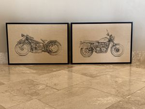 Framed Motorcycle Harley Yamaha Honda Indian Decorative Wall Art Pictures for Sale in Phoenix, AZ