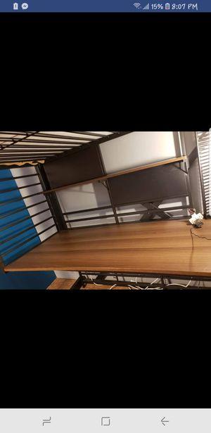 Bunk bed with desk for Sale in Denver, CO