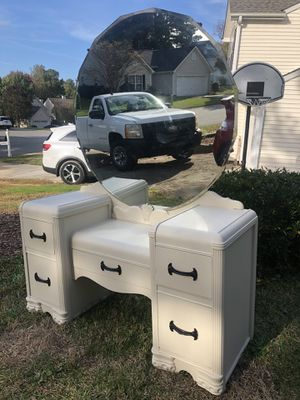 Antique white vanity for Sale in Durham, NC
