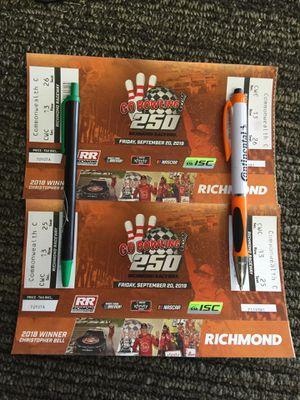 Richmond Xfinity NASCAR Race Tickets x 2 for Sale in Norfolk, VA