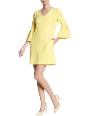 NWOT Donna Morgan yellow shift dress in size 14 in great condition with bell sleeve and Pockets. (Who doesn't love a dress with pockets!?) for Sale in Los Angeles, CA