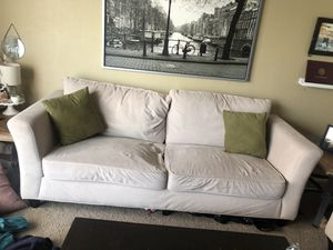 microfiber couch & dining room table (together or separate) for Sale in Phoenix, AZ