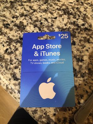 iTunes $25 card for Sale in CORP CHRISTI, TX