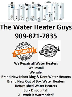 Repair installation and sales of water heaters for Sale in Riverside, CA