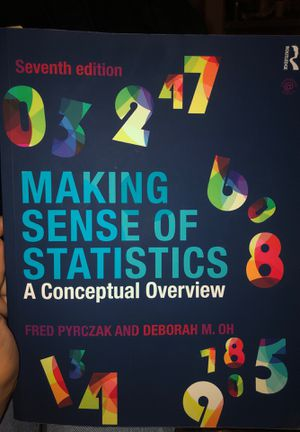 Making sense of statistics seventh edition textbook for Sale in Los Angeles, CA