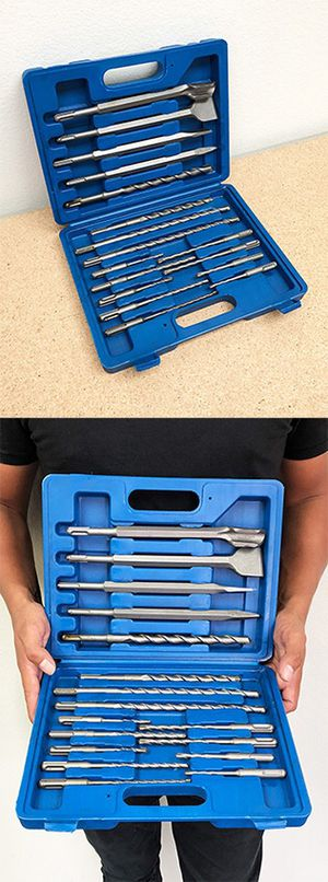 New in box $23 Tool Set 17pcs SDS Plus Rotary Hammer Drill Bits Chisel Concrete Masonry Hole for Sale in Pico Rivera, CA