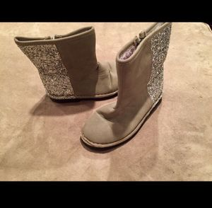 Girl Size 10 Silver Glitter Carter's Boots for Sale in Bountiful, UT