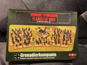 Flames of War - German: Grenadier Company (Plastic) GBX170 for Sale in Fresno, CA